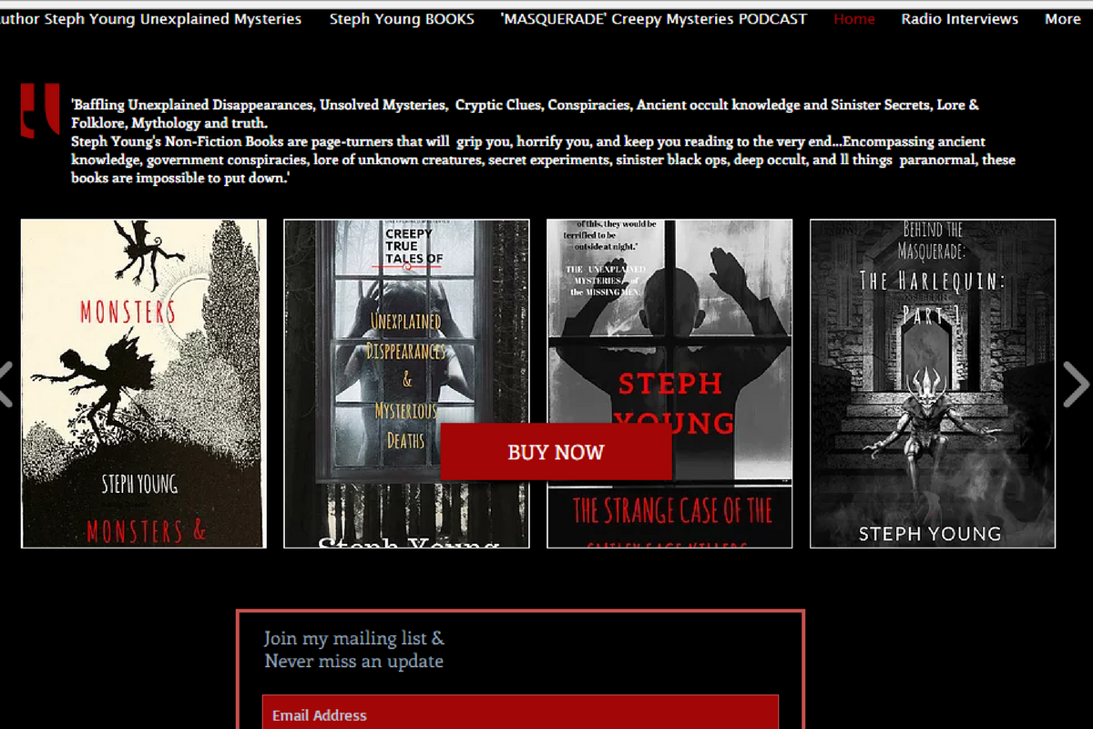steph young author website unexplained mysteries, Lore - Where's Alice?